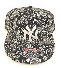 Twins Enterprise New York Yankees Fitted Hat Black/White Baseball Cap Size 7-1/2