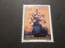 MONACO 1973, timbre 950, FLEURS, TABLEAU REDON, FLOWERS, neuf**, MNH