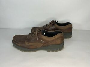 Ecco Men's Track 25 Low GTX Casual Hiking Leather Shoes - Bison Size 46 US 12/13