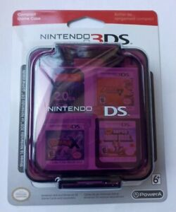 NEW Nintendo 3DS Compact Game Case - Clear Purple; Stores 16 Game Cards