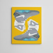 """16X20"""" Gallery Art Canvas: Nike Mag """"Back To The Future"""" Marty McFly Sneaker Art"""