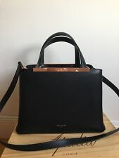 NWT !! Ted Baker London Naomii Smooth Leather Tote/Should Bag Black $295