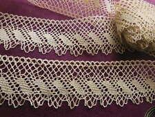 dentelle ancienne en fil de lin 3 m 50 sur 4 cm ME2