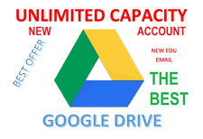 Unlimited GOOGLE DRIVE Storage -NOT SHARED DRIVE - Unlimited Gmail ( EDU EMAIL )