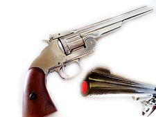Replica M 1869 S&W .45 Schofield Revolver Prop Gun (Nickel)  Pistol non-firing