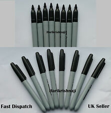 7 New Low Price BLACK Good Quality BULLET TIP PERMANENT Marker Pens, 7 Markers