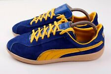 VTG 80s Puma Bluebird Yellow/Blue Suede Trainers Sneakers Size UK 6.5