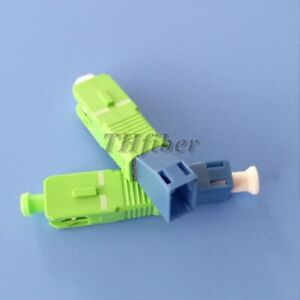 10pcs/lots SC APC Male to LC UPC Female Singlemode Optical Adaptor Connector