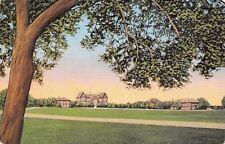 Kerrville Texas~Schreiner Institute Junior College Campus~1940s Linen Postcard