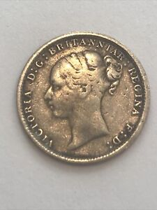 Queen Victoria 1883 Threepence 3d Silver Coin