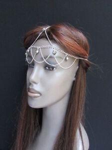 Women Metal Headband Fashion Multi Thin Chains Trendy Moroccan Bling Charms Fun