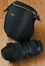 USED Sigma 18-35mm f/1.8 DC HSM Art Lens for Nikon w LowePro Case Caps SHARP!!!