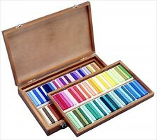NEW Holbein Artists Oil Pastels 100 Sticks in Wood Box Set U690 From Japan F/S