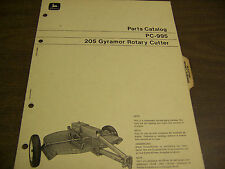 12192 John Deere Parts Catalog Pc-995 Cutter Rotary Gyramor series 205