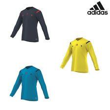 adidas Referee 14 Jersey LS Schiedsrichter Trikot Langarm blau / gelb