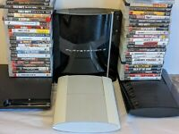 Sony PlayStation 3 PS3 Fat Slim or Super Slim Console W 4 Random Games All Cords