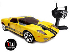 NEW IWAVER 02M FORD GT 40 YELLOW RC CAR 1:28 FM RTR MINI-Z