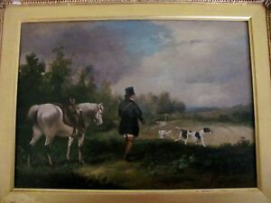 Follower Julius Caeser Ibbetson  Gentleman Hare Shooting country scene oil