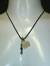 Cord – 3 Charm New Juicy Couture 16� Necklace W/Brown