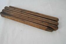 """ancien mètre pliant en bois """"JEAUGE""""   1.40 mètres"""