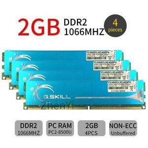 8GB 4GB 2GB DDR2 1066MHz PC2-8500U 240Pin OC DIMM RAM Desktop Memory GSKILL