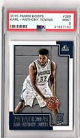 2015 Panini Hoops #289 Karl-Anthony Towns Rookie PSA MINT 9