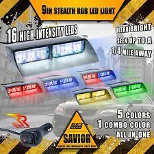 16 LED RGB Color Windshield Emergency Flash LED Strobe Light Dashboard Window A