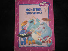 Monsters, Monsters! Sesame Street Book Club 1992, hb, CTW, GD cond.