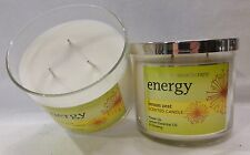 2 Energy Lemon Zest Scented Candle Bath & Body Works 14.5 Oz