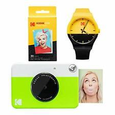 Kodak PRINTOMATIC Instant Print Camera (Green) Watch Bundle
