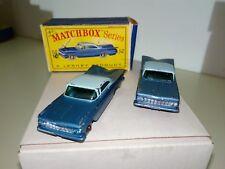 Matchbox/Lesney maqueta de coche 2xrw nº 57b Chevrolet Impala 1961-65 con 1xovp-d raro