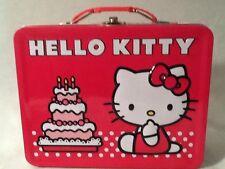 HELLO KITTY Embossed Birthday Cake Tin Lunch Box Santo Kawaii NEW