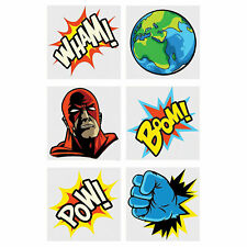 Comic Superhero Temporary Tattoos - Apparel Accessories - 72 Pieces