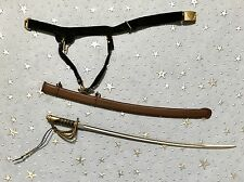 1/6 Civil War Cowboy Cavalry Sword Scabbard and Belt - Sideshow