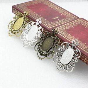 5pcs Brooch Base Finding Cabochons Bezel Settings Blank Tray DIY Jewelry Making