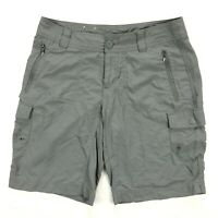 Columbia East Ridge Womens 6 Ranger Green Nylon Cargo Shorts