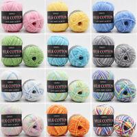 Soft Milk Cotton Wool Yarn Mixed Colors Baby Knitting Crochet Sweater Scarf DIY
