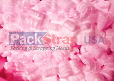 Packing Peanuts Shipping Anti Static Fill Popcorn 3 Cubic Feet 22.5 Gallons Pink