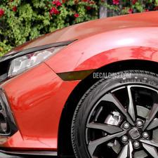 2016 17 18 + Honda Civic Reflector Overlay Dark Tint Kit - Smoke Side Marker