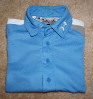 UNDER ARMOUR COLDBLACK HEAT GEAR ~ BLUE SHORT SLEEVE POLO SHIRT ~  MEN'S SM