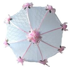 "32"" Bridal Shower Wedding Lace & pink roses Umbrella"
