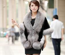 Women Wedding Party Faux Fox Mink Fur Luxury Cape Shawl Stole Wrap Shrug Scarf