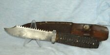 """VINTAGE CASE TESTED XX GREENBONE FIXED BLADE KNIFE """"WITH LEATHER SHEATH"""""""