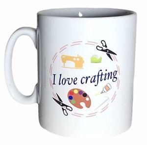 I Love Crafting Mug. Mugs For Crafters For Christmas, Birthday Gifts. Craft Gift