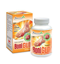 BoniGut, 01 Box x 60 Capsules, Natural Remedy for URIC ACID GOUT Relief