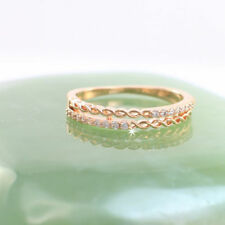 Cubic Zirconia Band Rose Gold Filled Fashion Rings