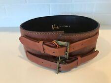 Women's Vintage Vera Designer Wide Leather Belt Size S