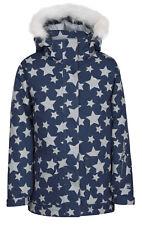 Trespass Tillie Girls Ski Jacket Waterproof Insulated Coat Navy 7 - 8 Years