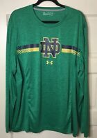 Notre Dame Under Armour 2017 Sideline Training Performance Long Sleeve 2 XL MINT