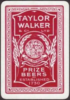 Playing Cards 1 Single Card Old Wide TAYLOR WALKER Brewery Beer Advertising Art